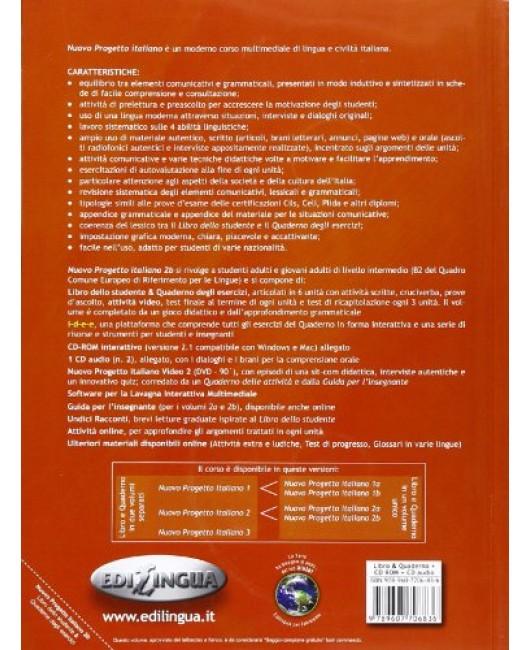 Nuovo progetto italiano 2B . Libro dello studente + Quaderno + esercizi interattivi + DVD +CD