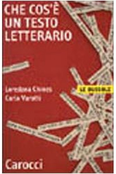 Che cos'è un testo letterario - Loredana Chines, Carlo Varotti