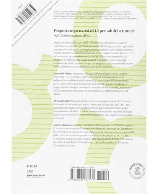 Progettare percorsi di L2 per adulti stranieri. Dall'alfabetizzazione all'A1